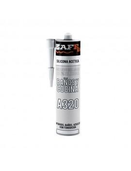 Silicona Antibacterial para baños y cocinas A320
